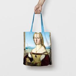 Shopping bag Dama col liocorno